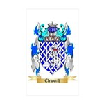 Cleworth Sticker (Rectangle 50 pk)