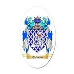 Clewlow Oval Car Magnet