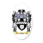 Clew Oval Car Magnet