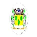 Clery Oval Car Magnet