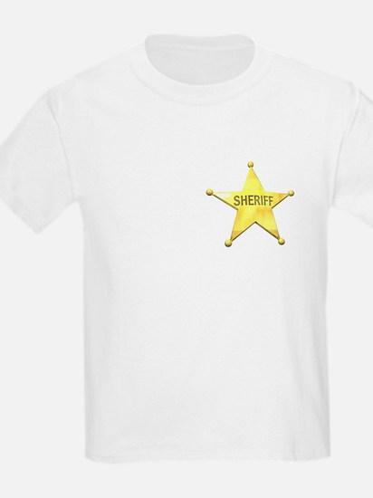 Sheriff Badge Kids T-Shirt