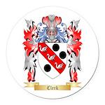 Clerk Round Car Magnet