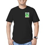 Clench Men's Fitted T-Shirt (dark)
