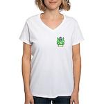 Clench Women's V-Neck T-Shirt