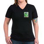 Clench Women's V-Neck Dark T-Shirt