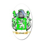 Clench 35x21 Oval Wall Decal