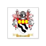Clemson Square Sticker 3