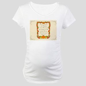 Thanksgiving Blessings Maternity T-Shirt