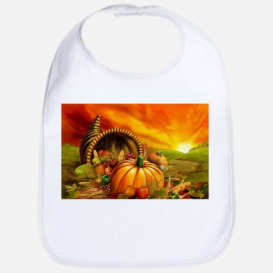 A Thanksgiving Bountiful Harvest Bib