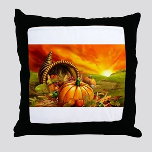 A Thanksgiving Bountiful Harvest Throw Pillow