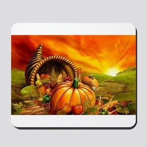 A Thanksgiving Bountiful Harvest Mousepad
