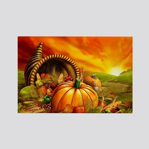 A Thanksgiving Bountiful Harvest Rectangle Magnet