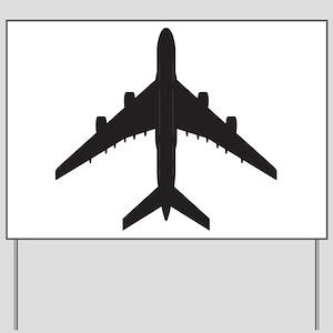 Airplane Yard Sign
