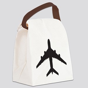 Airplane Canvas Lunch Bag