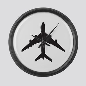 Airplane Large Wall Clock