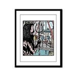 Angry King Neptune Framed Panel Print