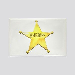 Sheriff Badge Rectangle Magnet