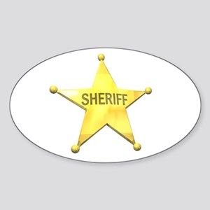 Sheriff Badge Oval Sticker