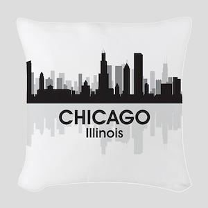 Chicago Skyline Woven Throw Pillow