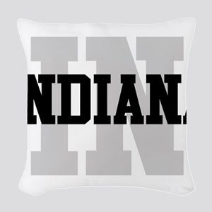 IN Indiana Woven Throw Pillow