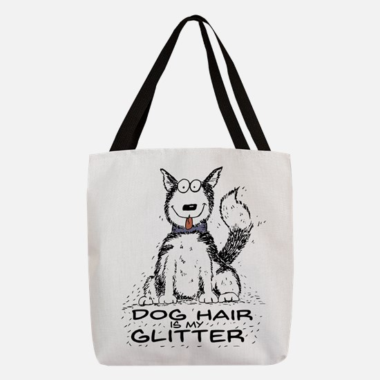 Dog Hair is My Glitter Polyester Tote Bag