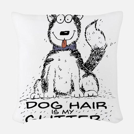 Dog Hair is My Glitter Woven Throw Pillow