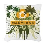 Palm Tree Maryland Woven Throw Pillow