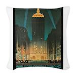 New York Central Building Woven Throw Pillow