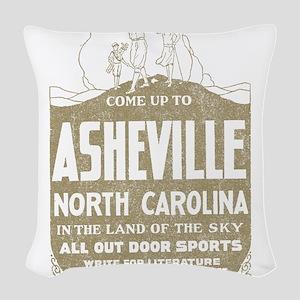 Vintage Asheville Woven Throw Pillow