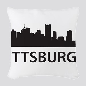 Pittsburgh Skyline Woven Throw Pillow