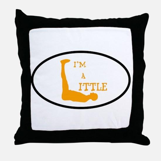 I'm a Little Tony Kornheiser Sticker Throw Pillow