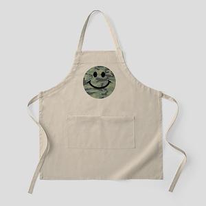 Green Camo Smiley Face Apron