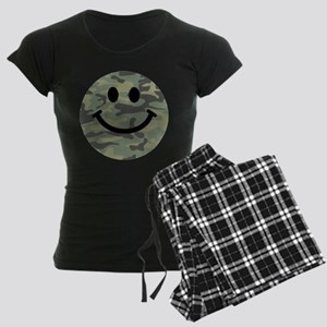 Green Camo Smiley Face pajamas