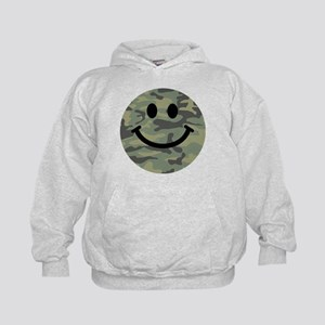Green Camo Smiley Face Hoody