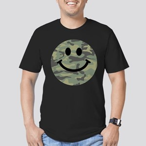 Green Camo Smiley Face T-Shirt
