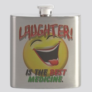 LAUGHTER IS THE BEST MED 1 pract flat Flask