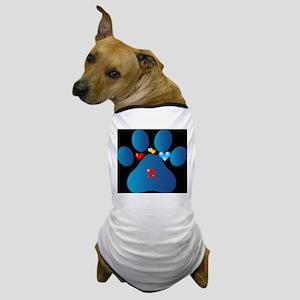blue paw Dog T-Shirt