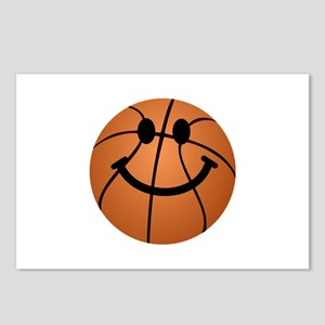Basketball smiley face Postcards (Package of 8)