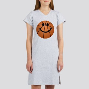 Basketball smiley face Women's Nightshirt