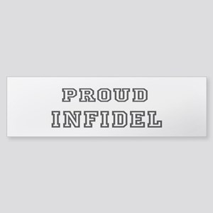 Proud Infidel Sticker (Bumper)