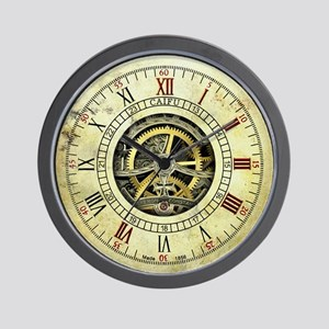 Vintage steampunk wall clock