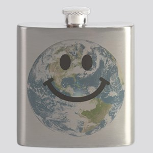 Happy earth smiley face Flask