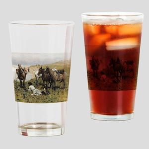 Resting with Horses Kaukaski Drinking Glass