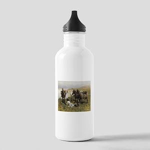Resting with Horses Kaukaski Water Bottle