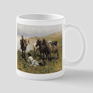 Resting with Horses Kaukaski Mug