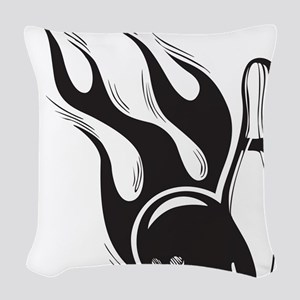 Flaming Skittle Woven Throw Pillow