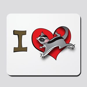 I heart sugar gliders Mousepad