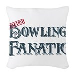 Bowling Fanatic Woven Throw Pillow