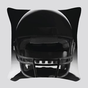 Football Helmet Woven Throw Pillow
