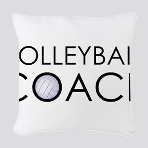 Volleyball Coach Woven Throw Pillow